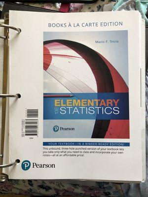 Statistics textbook for Sale in Baldwin Park, CA