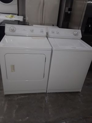 Washer and dryer electric whirlpool good condition 90 days warranty labadora y secadora electrica whirlpool buenas condiciones 90 dias de garantia for Sale in San Leandro, CA