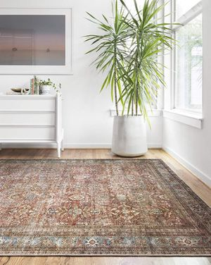 """Loloi ll LAY-01 Layla Collection Printed Vintage Persian Area Rug 9'0"""" x 12'0"""" Brick/Blue NEW for Sale in Glendale, AZ"""