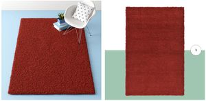 5'X8' red shaggy rug for Sale in Santa Clara, CA