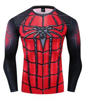 🕷🕷🕷🕷🕷 Spiderman Men's Compression Long Sleeve Fitness GYM Workout running Base Layer Shirt🕷🕷🕷🕷🕷 for Sale in Fontana, CA