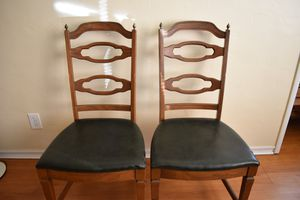 Set of antique chairs with leather seats for Sale in Berkeley, CA