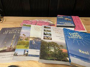 California Real Estate Exam Textbook Set for Sale in Visalia, CA