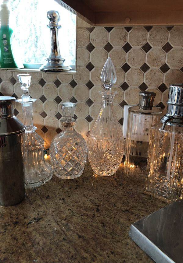 Vintage French Crystal Decanters and Barware