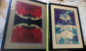 2 Art abstract w/ frames for Sale in Austin, TX