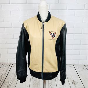 Harley Davidson Black & Tan Leather Bomber Jacket for Sale in Houston, TX