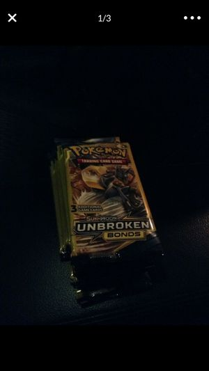 Pokemon Sun and Moon Unbroken bonds card booster packs x29 for Sale in Pico Rivera, CA