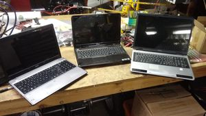 3 laptop computer, Toshiba, Dell, Acer $45 all firm for Sale in El Cajon, CA