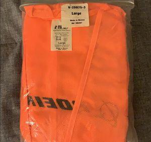 2 Orange Zip Up Vests with Reflectors Size L for Sale in La Mesa, CA
