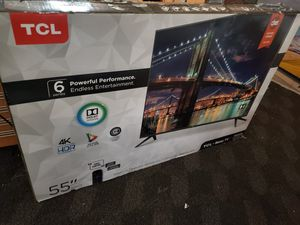 "TCL 55"" CLASS 6-SERIES 4K UHD DOLBY VISION HDR ROKU SMART TV - 55R613 for Sale in Philadelphia, PA"