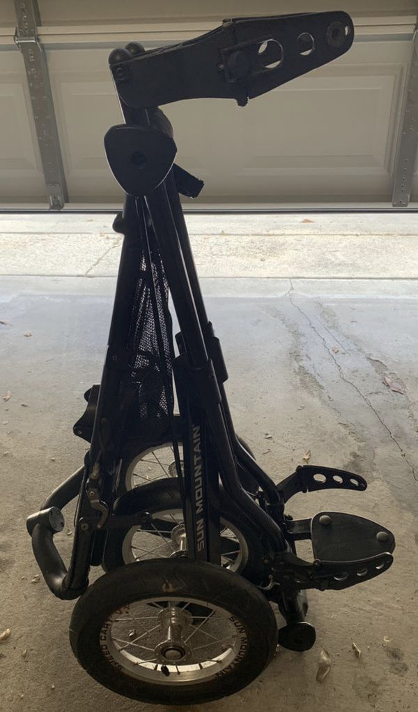 Sun Mountain V1 Speed Cart Golf Bag Push Cart 3-Wheel Black