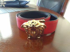 Red Gold V Medusa Belt! Size 32-34! Brand New GreatQuality!! for Sale in Las Vegas, NV