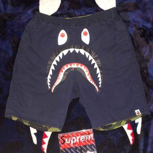 Bape Camo Shark Reversible short for Sale in Hallandale Beach, FL