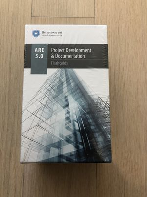 ARE 5.0 PDD Brighwood Architecture Flashcards for Sale in Boston, MA