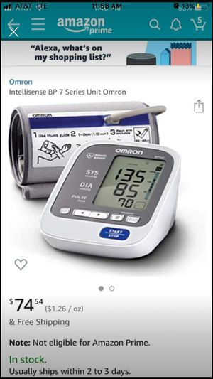 Blood pressure monitor cuff at home device for Sale in Oregon City, OR