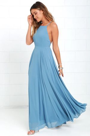 Mythical Kind of Love Slate Blue Maxi Dress - L for Sale in Bothell, WA