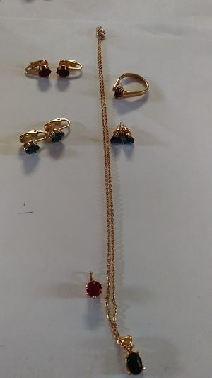 3 pairs or earrings 2 charms a chain and ring for Sale in Aurora, CO