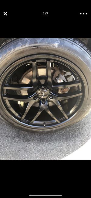 20 inch black rims and tires ( in storage ) for Sale in Paterson, NJ