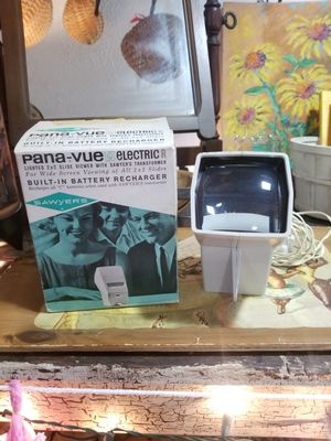 Vintage Pana-Vue Wide Screen Electric Slide Viewer,Sawyer's (2x2) Monitor Pana View, with Box, 1960's for Sale in Zion Crossroads, VA