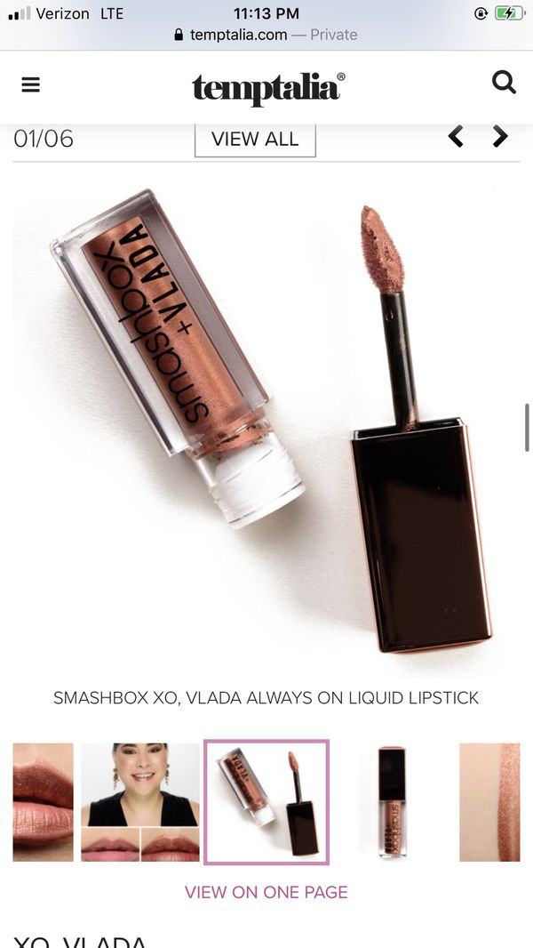 New limited edition Smashbox + Vlada Liquid Matte Lipstick (XO, Vlada - medium-dark, rosy copper with warm undertones and a matte, metallic finish)