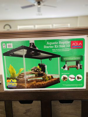 New open box aquatic reptile starter kit 10 gallon for Sale in Las Vegas, NV