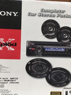 Sony XPLOD Car Stero Complete Package for Sale in Weston,  FL