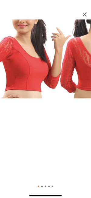 Beautiful red lyrca stretchable blouse 40 for Sale in Irving, TX