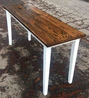 Reclaimed recycles sofa, entry, console, table TV Stand desk, or a thin kitchen table to help with suicide prevention. for Sale in Vancouver, WA