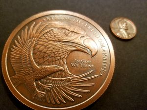 One huge 5 ounce .999 fine copper antiqued Freedom Eagle collectors piece. for Sale in Auburn, WA