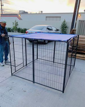 New 40 inch tall x 32 inches wide each panel x 8 panels heavy duty exercise playpen with sun shade tarp cover fence safety gate dog cage crate kennel for Sale in Pico Rivera, CA