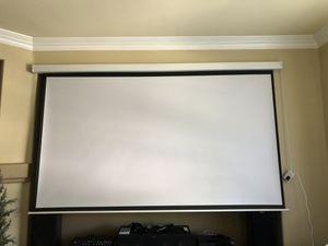 """Motorized Projector Screen 120"""" for Sale in Las Vegas, NV"""
