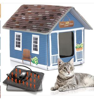 PETYELLA Cat Houses for Outdoor Cats - Heated Cat Bed - Heated Cat House - Outdoor Cat House for Sale in Everett, WA
