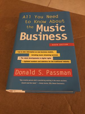 All You Need to Know about the Music Business : Ninth Edition by Donald S.... for Sale in Miami, FL