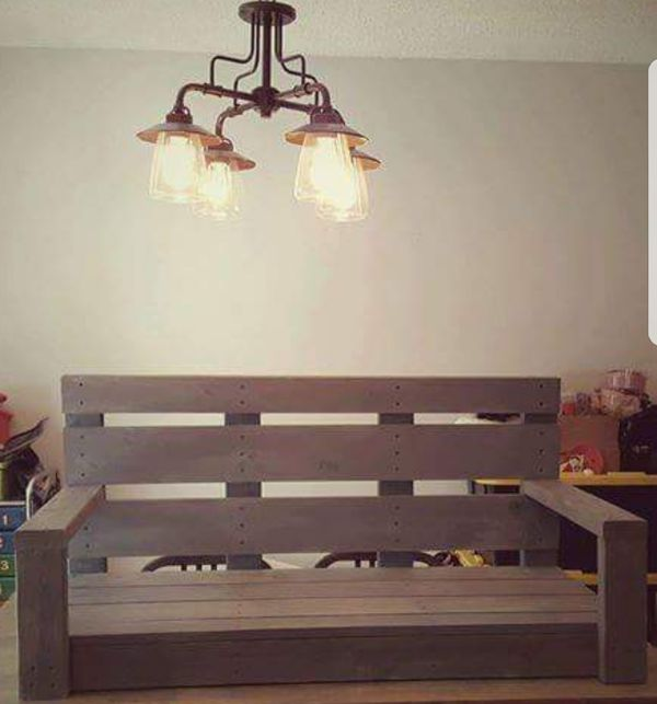 """Wooden porch swing 48"""" made to order"""