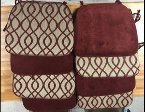 Beautiful Burgundy & Beige 2-Sided Seat Cushions for Sale in Decatur, GA