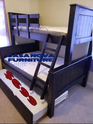 BRAND NEW BUNK BED FRAME FULL/ TWIN OVER TWIN 📢📢📢📢📢MATTRESSES INCLUDED 📢📢📢📢AVAILABLE FOR SAME DAY DELIVERY OR PICK UP for Sale in Compton, CA