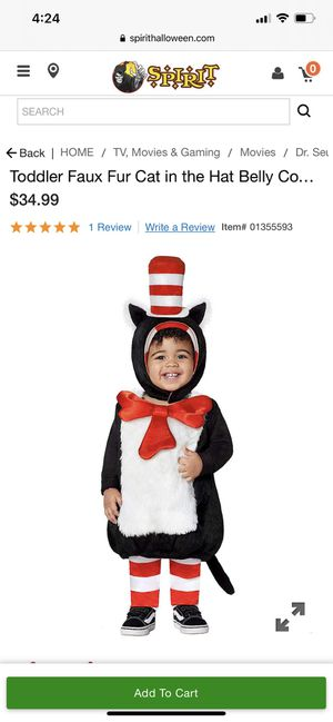 Cat in the Hat toddler 2t-4t Halloween costume for Sale in Glendale, AZ