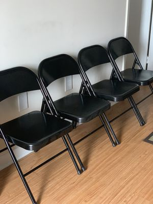 Black Folding Chairs for Sale in Miami, FL
