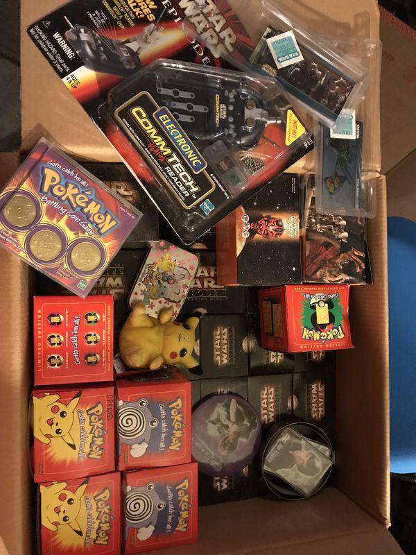 Collectibles Pokémon Star wars action figures balls puzzles cards etc
