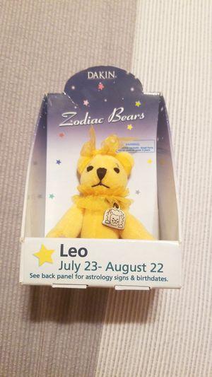 Dakin Zodiac Bears With Charm Stuffed Mini Bear LEO for Sale in Lakewood, CA