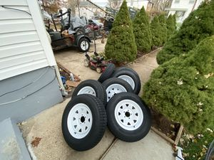 Trailer Tires 205/75/15 4$320 for Sale in Wheaton, MD