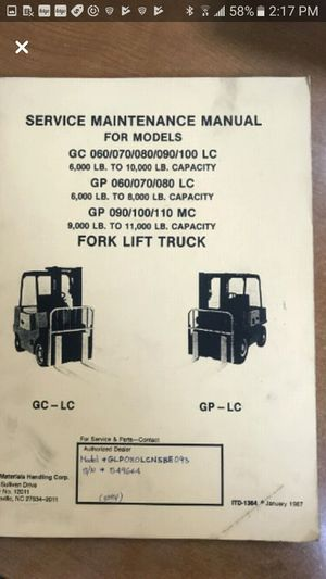 Forklift Service Maintenance Manual for Sale in Brooklyn, NY