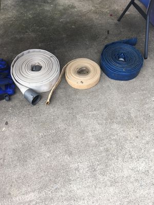 Fire hoses for draining systems. Great for backwashing swimming pools. Large hose $20.00 medium hose $15.00 small hose $10.00 for Sale in Murfreesboro, TN