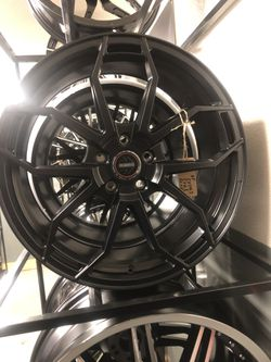 BRAND NEW set (4) Satin Black MoMo 19 inch rims for only $1000!!! for Sale in Joint Base Lewis-McChord,  WA