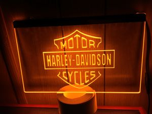"Bar & Shield Harley Davidson 3D Engraved LED Neon Light Sign Wall Decor 12"" x 8"" for Sale in Akron, OH"