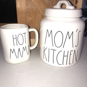 Rae Dunn Mother's Day Set MOM'S KITCHEN CANISTER & HOT MAMA Mug for Sale in Anaheim, CA