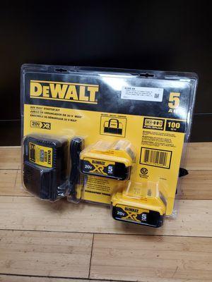 Dewalt 20V DCB205-2CK 2 Batteries 5.0Ah, Charger, Bag for Sale in Framingham, MA