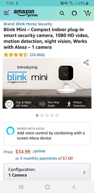Blink Mini – Security Camera for Sale in Cerritos, CA