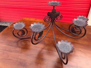 PartyLite Metal Fireplace/Tiered Centerpiece Pillar Candle Holder for Sale in Mount Holly, NC