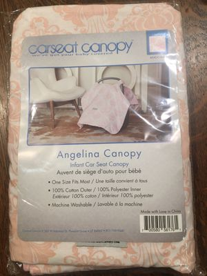 Infant car seat canopy - Angelina patterb- New for Sale in College Station, TX